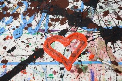 Heart shape in paint