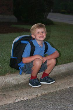 Clay First Day of School 8